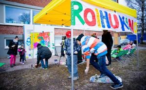 Graffitianimaatiotyöpaja, kuva: Tero Leponiemi