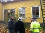 Ensimmäinen kuntokatselmus taloilla 12.10.2011.